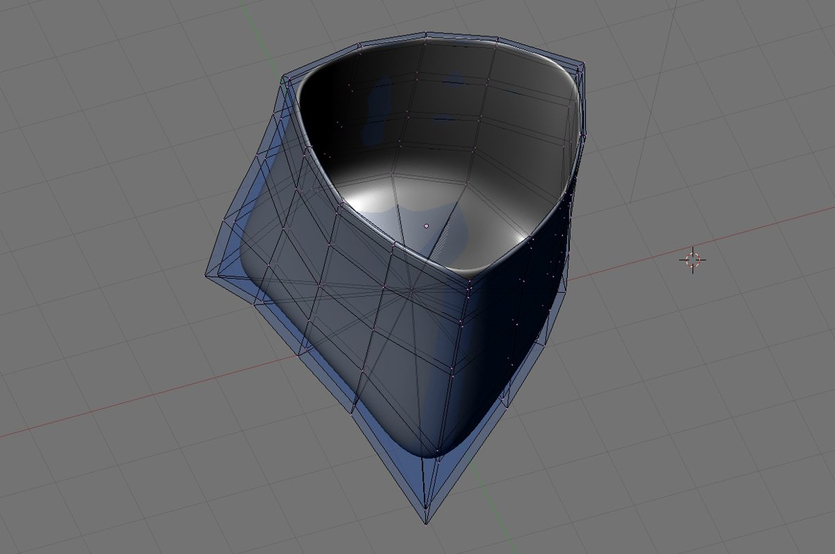 Tripod Sake Cup 3D modelling of source form